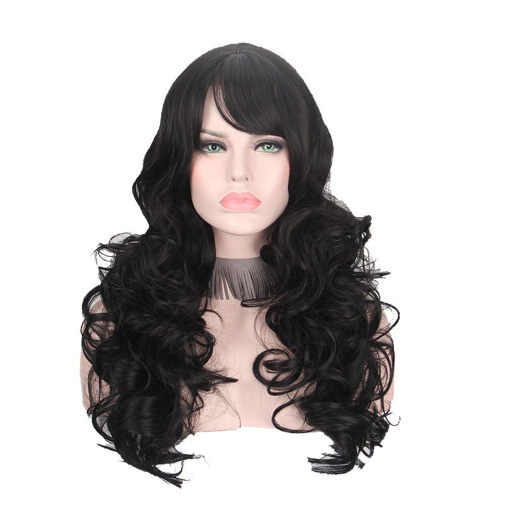 cor natural cabelo preto fibra sintética fábrica