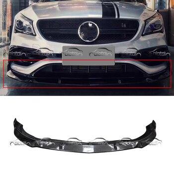 B Estilo Estilo Do Carro De Fibra De Carbono Frente Lip Bumper Spoiler Para Mercedes Benz CLA 2015 AMG & CLA45 C117
