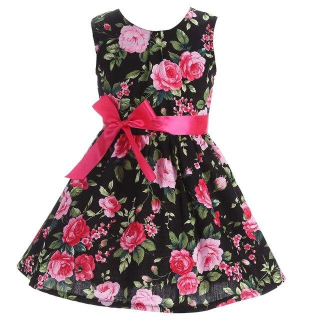 679e84118af48 الوليد طفلة ملابس الصيف 2017 الأطفال طفلة اللباس الشاطئ. لطيف الزفاف  الاطفال فساتين للبنات القطن