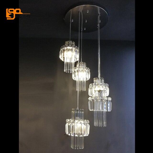 Nieuwe mooie kristal moderne hanger LED armatuur suspendu eetkamer ...