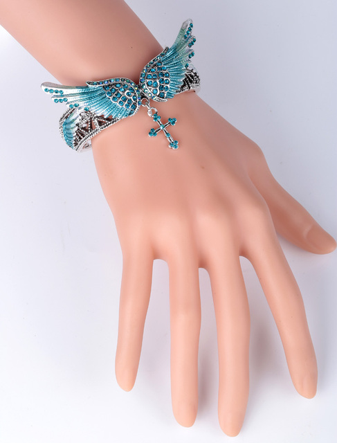 brixini.com - Wings & Cross Stretch Bracelet