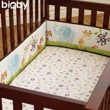 Большой 4 Шт. Хлопок Детские Младенческой Кроватки Кроватки Бампер Протектора Безопасности Малышей Детские Постельные Принадлежности Детская Подушка Pad Baby Care