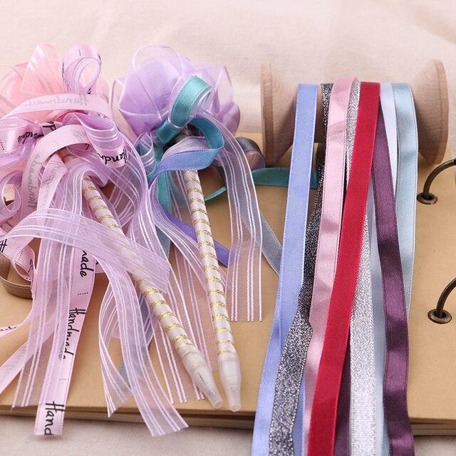 """2 חצר 0.7 מ""""מ-1 ס""""מ בז 'אריזה סרטים, פרימיום מתנת קופסות סרטים דקורטיביים, בעבודת יד DIY עניבות פרפר"""