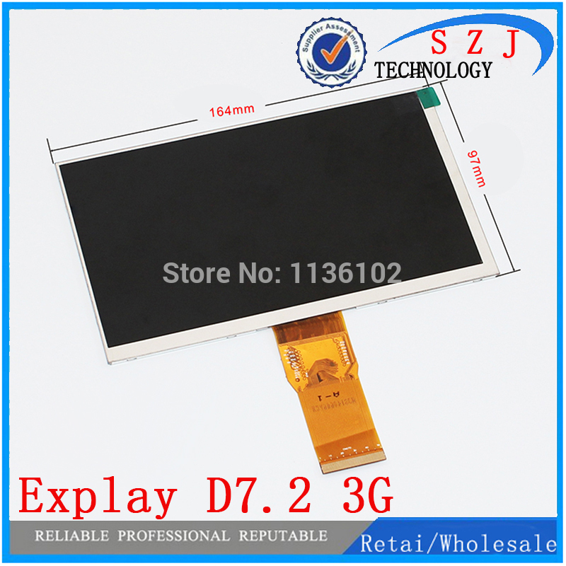 Original 7 inch case for Explay D7.2 3G TABLET TFT inner LCD display Screen Replacement Module Viewing Frame Free Shipping free shipping original 9 inch lcd screen cable numbers kr090lb3s 1030300647 40pin