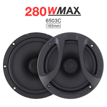 2pcs 6.5 Inch 280W 2 Way Car Coaxial Speaker Auto Audio Music Stereo Full Range Frequency Hifi Loudspeaker Non-destructive