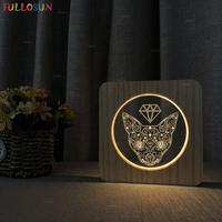 New Design Nordic Wood Night Lamp Cute Cat LED USB Lights Warm White Night Light Baby Kids Sleep Lamp as Art Decor