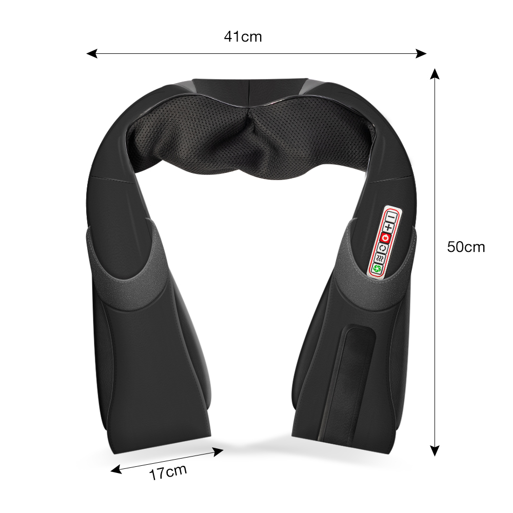 Electrical Shiatsu Back Neck Shoulder Body Infrared Heated Kneading Massager For Car/Home 4