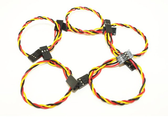 Free shipping,10pcs 20cm 3pin jumper wire 2.54mm Dupont cable Female to Female