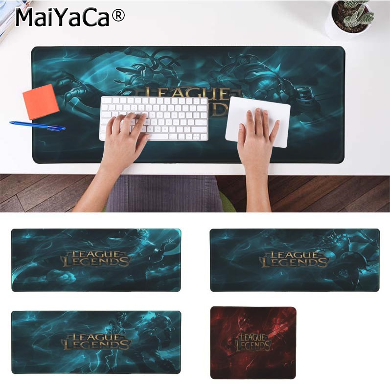 MaiYaCa Funny League of Legends Large Mouse pad PC Computer mat Rubber Gaming mousepad