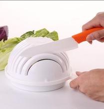 60 Second Salad Cutter Bowl Easy Salad Fruit Vegetable Washer And Cutter Quick Salad Maker Chopper