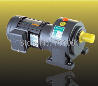 400W shaft diameter 22mm small AC gear motor single-phase motors with 2# gearbox ratio 30 ,220V 60 Hz vertical mounting 100w output power 22mm small ac gear motor 3 phase motor with 2 gearbox ratio 60 100