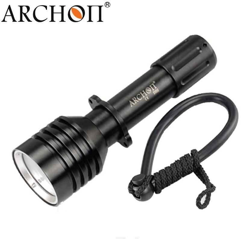 Lampe de poche de plongée ARCHON D10U W16U torche étanche sous-marine 3 Mode * L2 Led plongée Zoom projecteur lumières