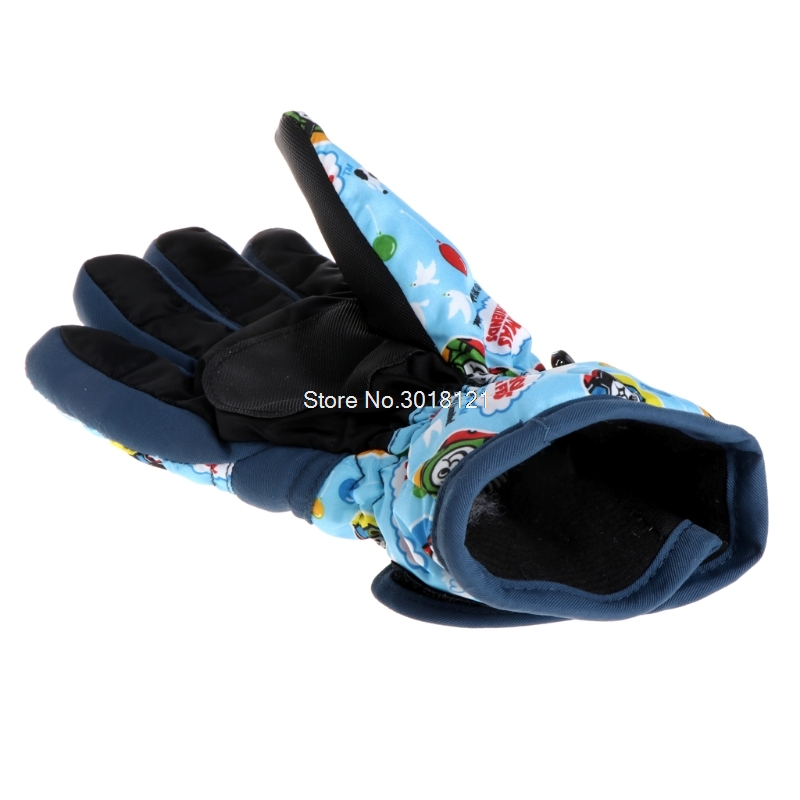 Children Winter Girls Boys Ski Skiing Bike Cycling Riding Warm Waterproof Windproof Winter Ski Gloves ROU