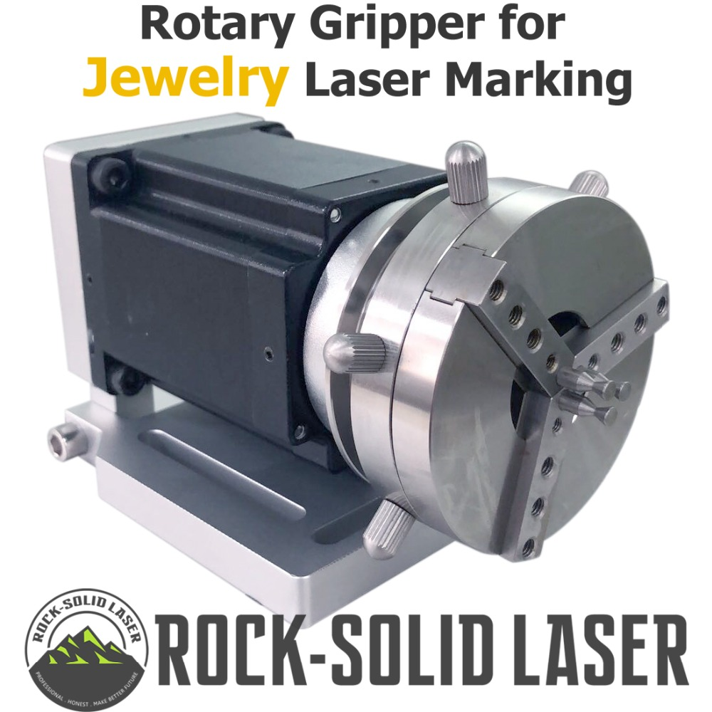 Rotary Gripper Fixture For Jewelry Ring Laser Marking Welding Machine Parts Rotate Jig shaft with Step Motor Driver Wholesale