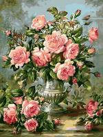 Frameless Picture Painting By Numbers Rose Modern Pink Flowers Home Decoration For Living Room Hand Unique