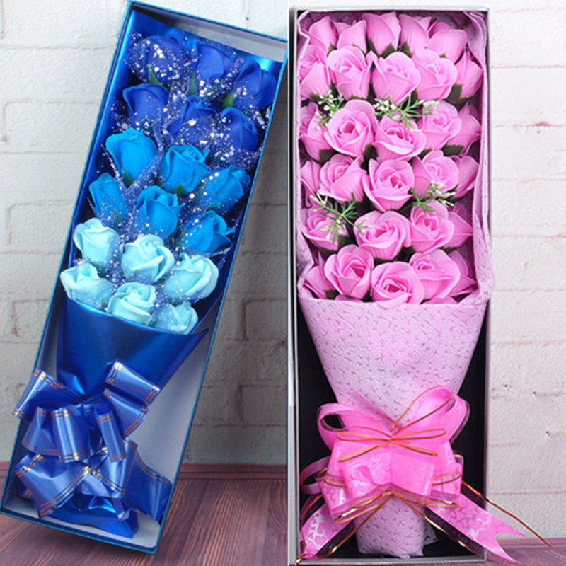 Flowers Artificial bouquet Bear soap rose flower toys Valentine Day decoration for weed wedding image