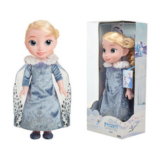 Frozen 38cm Princess Anna Elsa Belle Dolls Snow Queen Children Girls Toys Birthday Christmas Gifts For Kids Cartoon Doll 인형(China)