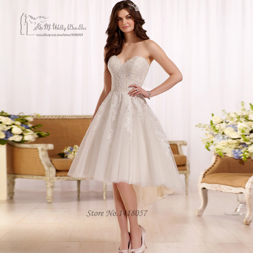 china cheap high low wedding dress short bridal dresses