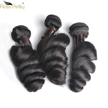 Loose Wave Hair Weave Bundles Natural Black Color Brazilian Human Extension 8 to 30 inch Remy Ross Pretty 1/3/4pcs