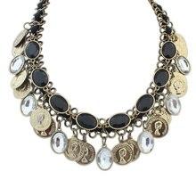 Moda collar de la declaración mujeres 2016 collar grande de la cadena del oro del babero chocker chunky largo de la vendimia collares y colgantes Joyería