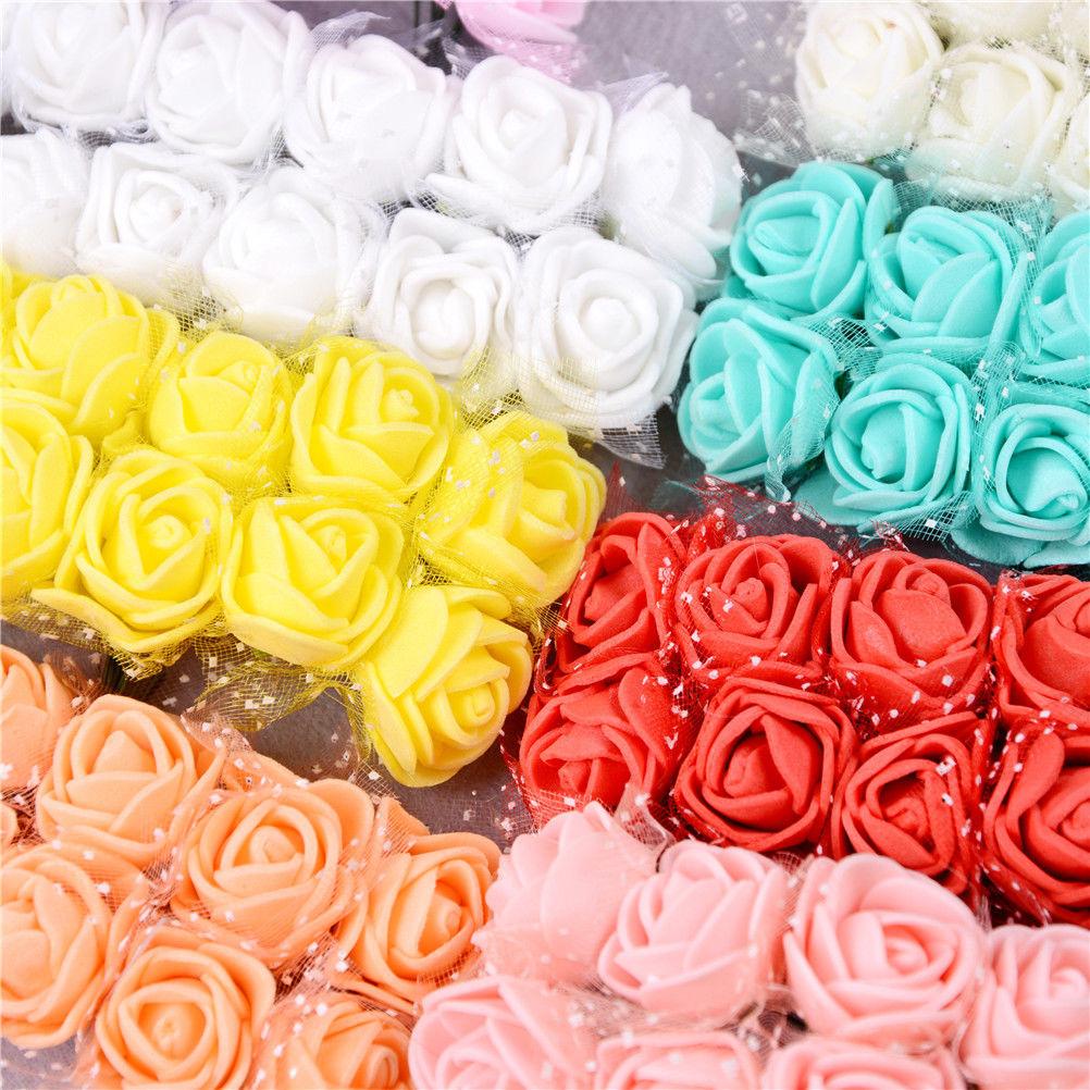 N2HAO Wholesale 11 Colors Artificial Mini PE Foam Rose Flower Head ...