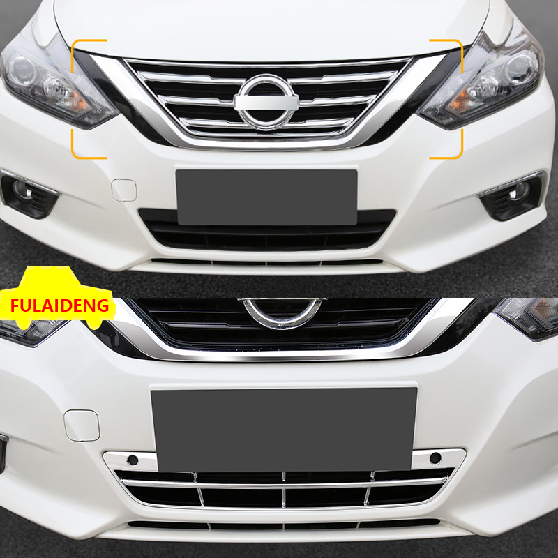 1* CHROME FRONT CENTER GRILL GRILLE COVER TRIM FOR NISSAN ALTIMA TEANA 2016-2018