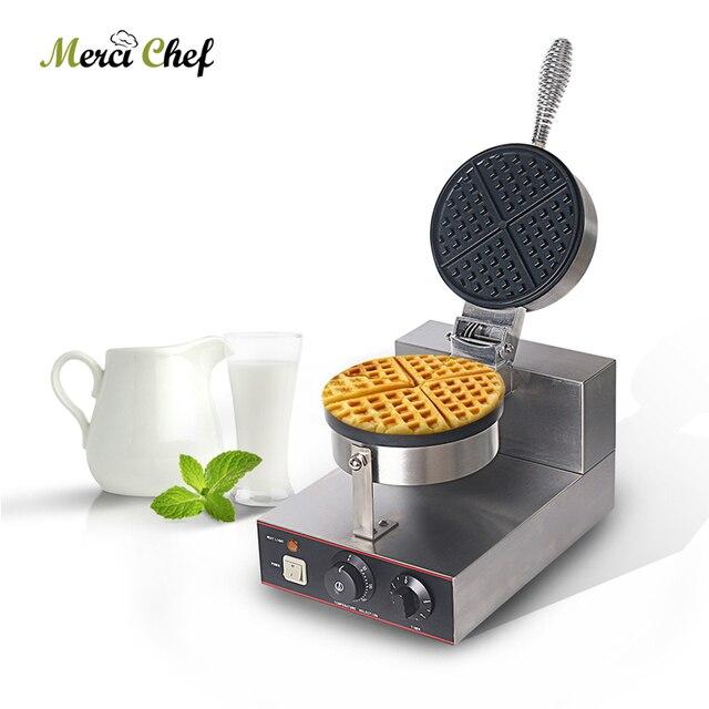 ITOP Waffle Machine Stainless Steel Waffle Baker Non-stick Electric Waffle Iron Maker Cake Oven EU/UK Plug