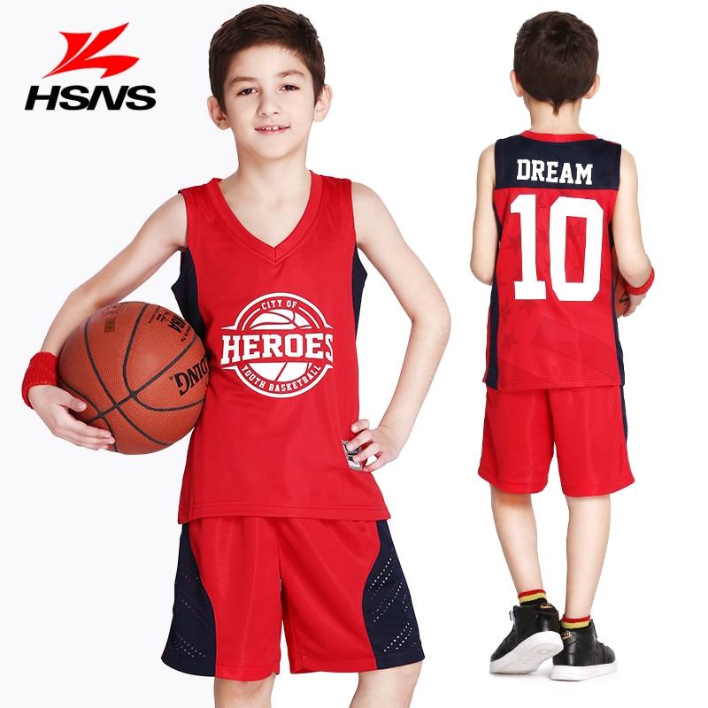 kid basketball jersey shorts 2pcs suit customized name number logo