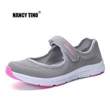 NANCY TINO Mujeres Sandalias Respirables Zapatos de Ligero Secado rápido Suelas suaves zapatos de playa Malla Femenina Deporte Pisos Sneakers35-42