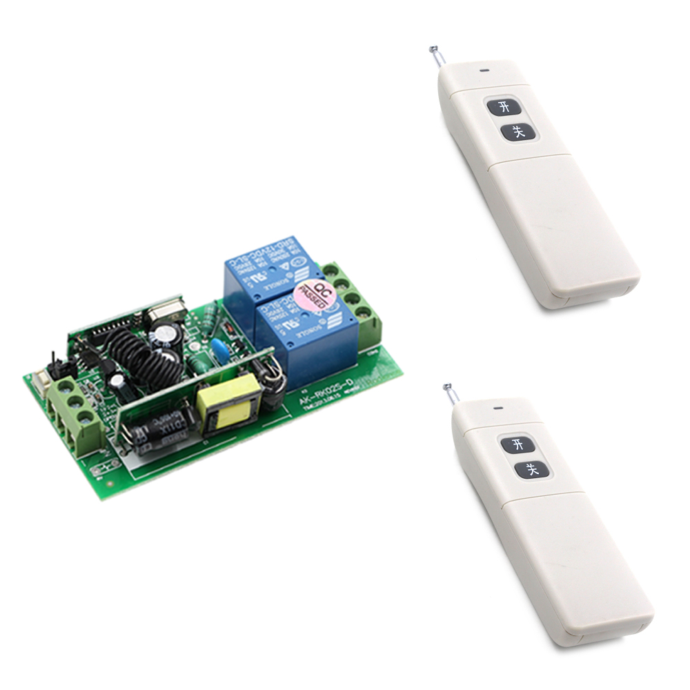 1000W Universal Long Range 85V 110V 220V 250V AC Wireless Remote Control Switch 2pcs Transmitters & Receiver Long Distance 1000m ac 250v 20a normal close 60c temperature control switch bimetal thermostat