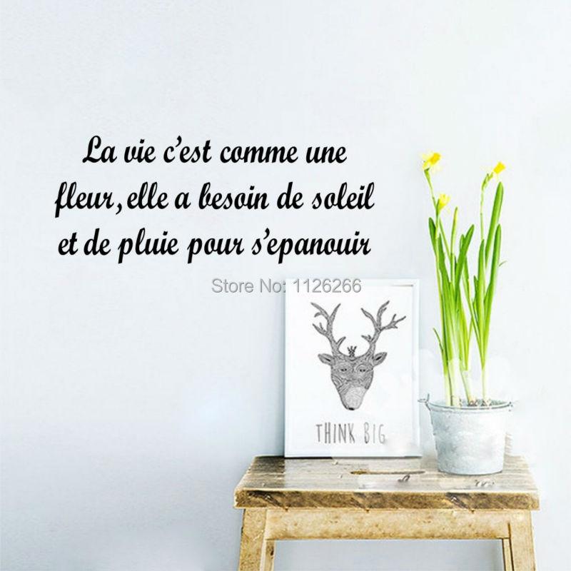Acheter maintenant! French Quotes La Vie Est Comme Une