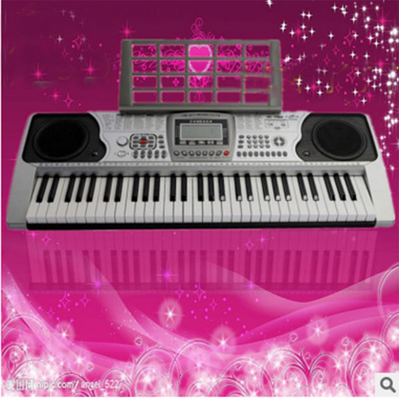 329 intelligent teaching organ XY329 piano key 61 key keyboard adult children beginner electronic organ puzzle multifunctional piano baby early education music hand drums intelligent piano toys