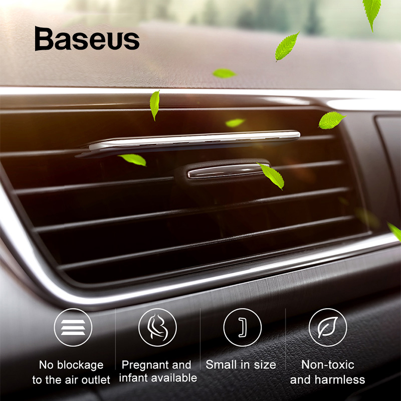 Baseus Car Phone Holder with Aromatherapy Air Freshener Clip Auto Air Outlet Perfume Aroma Diffuser Super Thin Car Air FreshenerBaseus Car Phone Holder with Aromatherapy Air Freshener Clip Auto Air Outlet Perfume Aroma Diffuser Super Thin Car Air Freshener