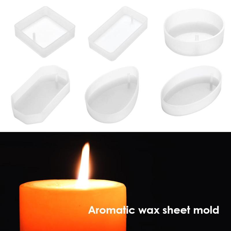 6 Styles Aromatherapy Wax Silicone Molds DIY Aroma Gypsum Plaster Soap Candle Mould(1pc)