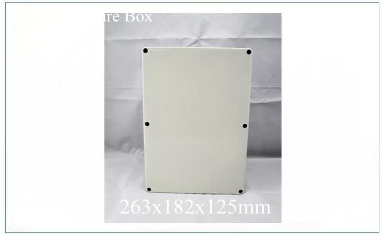 ФОТО abs plastic waterproof enclosure boxes 263x182x125MM hot selling electronics plastic enclosure boxes, 2016 new enclosure