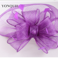Free Shipping 16 Colors Selected Sinamay Hats Nice Feather Fascinators For Wedding Hats Bridal Headwear Cocktail