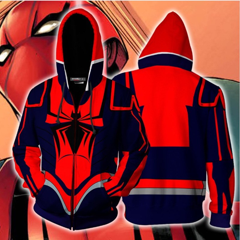 Superman Marvel Movie Spiderman 3D Print Avengers 3 Infinite War Cos Hooded