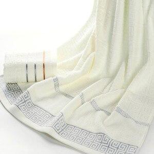 Image 4 - Plaid 100% Katoenen Gezicht Hand Badhanddoek Set voor Volwassen Badkamer 650g 3 stks/set Handdoek Sets Freeshipping