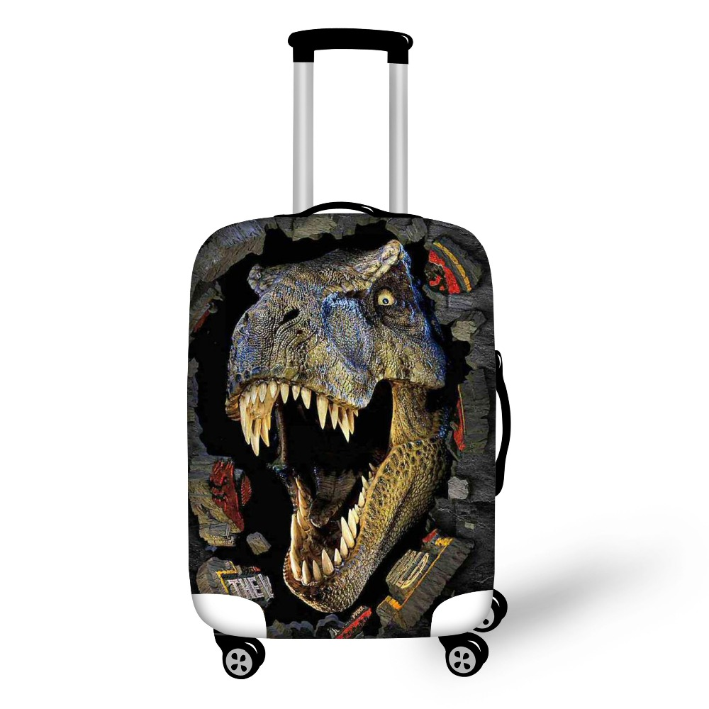 Cool Men Travel On Road Luggage Protective Suitcase Dust Rain Cover 3D Animal Dinosaur Cover For 18 To 30 Inch Trolley Cases