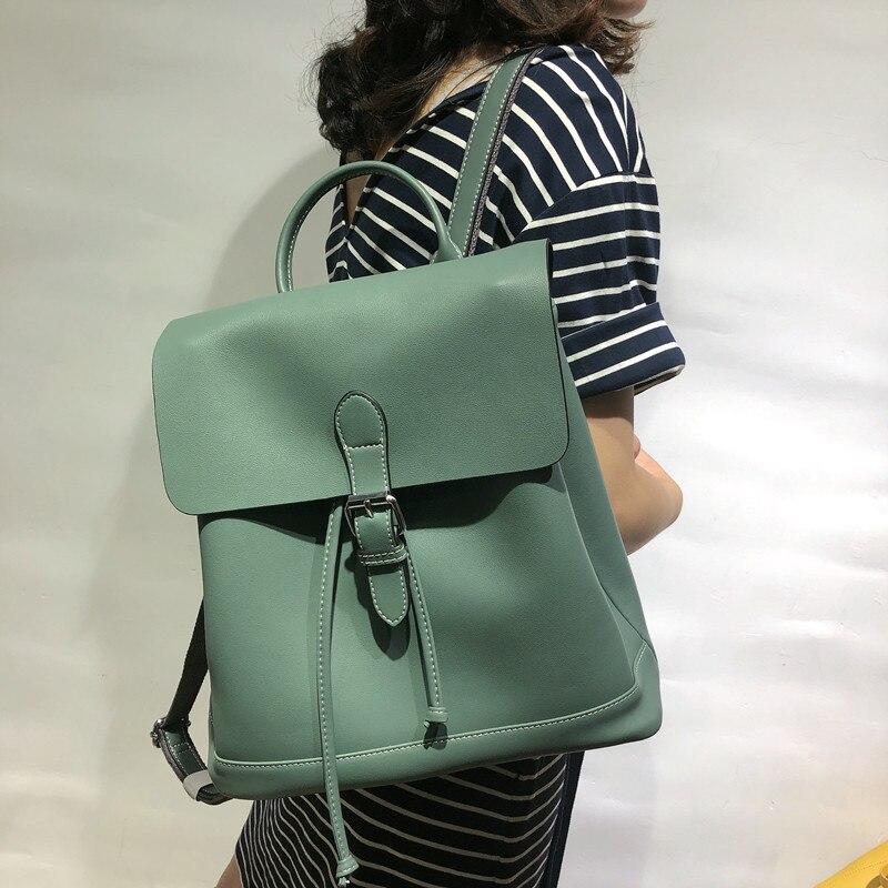 Nouveau 2019 mode Anti-vol sacs à dos pour femmes voyage Split sac en cuir sac à dos femme Zipper Design sac d'école sac à dos