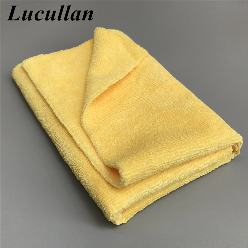 Lucullan 40X40CM 300GSM Basic Microfiber Cleaning Towel No Scratch Edgeless Clothes For Coating, Waxing, Detailing