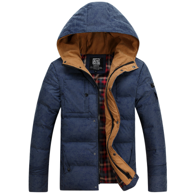 20116 New High Quality Brand Mens White Duck Down Jacket Casual Solid Collar Parka Winter Jacket Men Fashion Overcoat Outerwear