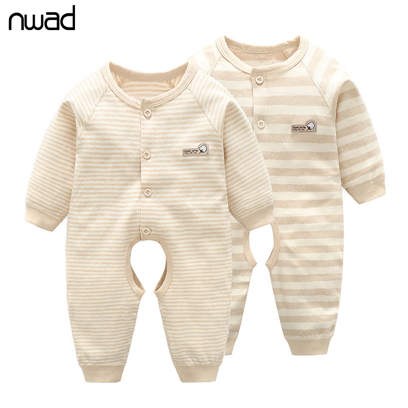 0-12M Newborn Baby Rompers Spring Autumn Baby Girls Boys Clothes Long Sleeve Striped Jumpsuit Kid Romper for Baby Clothing FF371 baby climb clothing newborn boys girls warm romper spring autumn winter baby cotton knit jumpsuits 0 18m long sleeves rompers