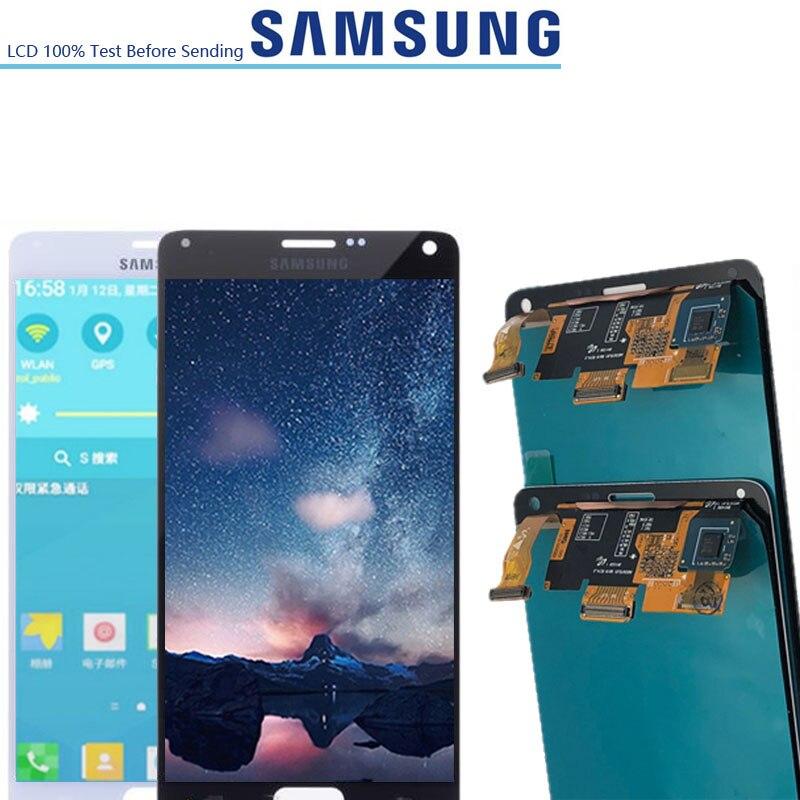 5.7 ''oryginalny SUPERAMOLED wyświetlacze LCD do Samsung Galaxy Note 4 note4 N910 N910A N910F N910H wyświetlacz LCD z ekranem dotykowym montaż w Ekrany LCD do tel. komórkowych od Telefony komórkowe i telekomunikacja na AliExpress - 11.11_Double 11Singles' Day 1