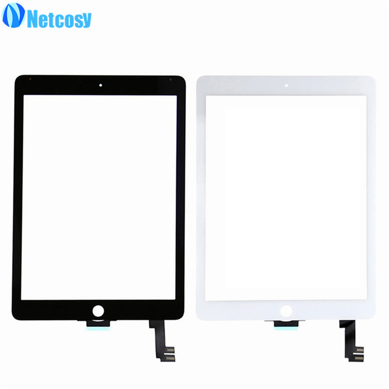 Netcosy For ipad Air 2 A1567 A1566 Touchscreen touch screen digitizer for ipad 6 touch panel & 1pcs OCA Optical Clear Adhesive netcosy for ipad air touchscreen high quality black