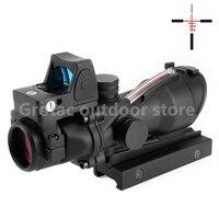 Тактический прицел ACOG 4X32 красный волоконный источник с подсветкой с RMR Micro mini Red Dot