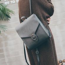 RU и br Корейский Новый из искусственной кожи Цвет сумка женская в духе колледжа для отдыха простой рюкзак многоцелевой Дорожные сумки