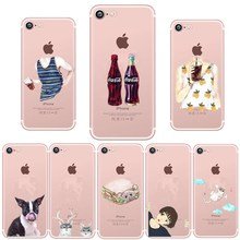 ФОТО transparent soft tpu couple girl case for iphone 6 6s 5 5s se mr mrs back cover case for iphone 7 8 plus x accessories