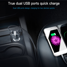 Baseus Rocket Dual-USB Car Charger Quick Charge 3.0