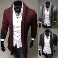 The 2014 men's new fashion leisure Korean cultivating long spell color cardigan